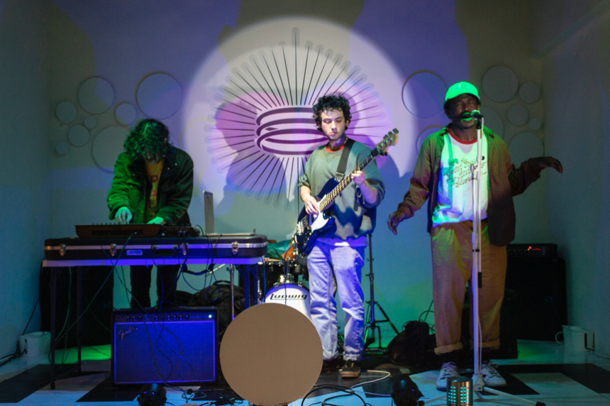 Zackie (left), Pockets (center) and Alfred (right) performing at Truth Vinyl in Arlington, TX in March 2019.